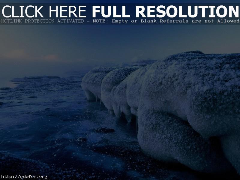 Обои Природа, лед, вода, холод фото картики заставки