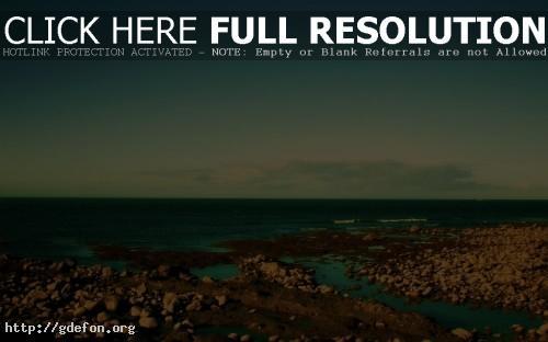Обои Природа, пейзаж, море, небо, берег, камни, яркие фото картики заставки