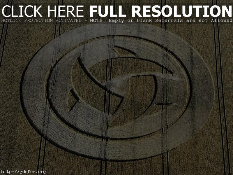 Обои Нло, круги на полях, поле фото картики заставки