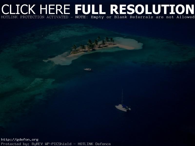 Обои Море, остров, яхта фото картики заставки