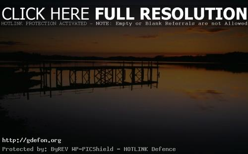 Обои Природа, пейзаж, река, вечер, закат, пирс, берег фото картики заставки