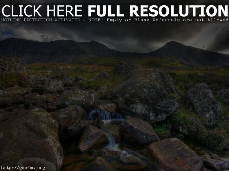 Обои Природа, горы, камни, река фото картики заставки