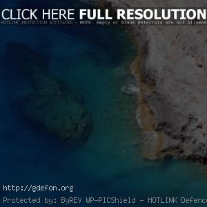 волны, море, скала