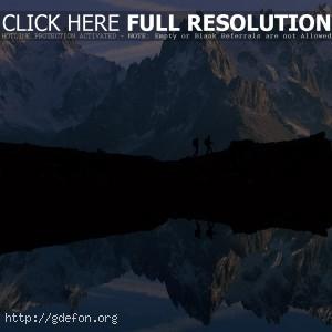 Горы, озеро, отражение