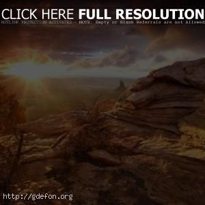 Закат в пустыни