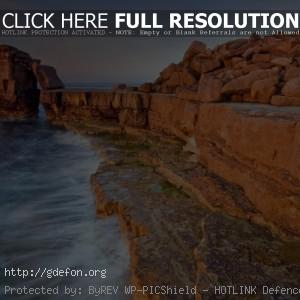 скала, море, обрыв