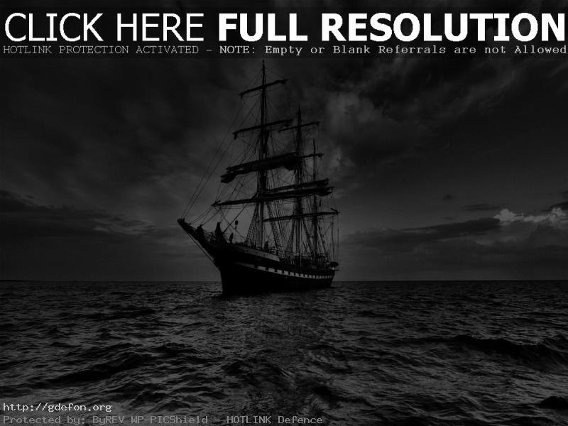 Обои Море, небо, парусник фото картики заставки