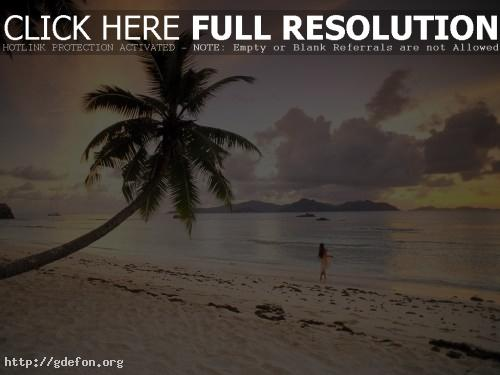 Обои Закат на Сейшельских острововах фото картики заставки