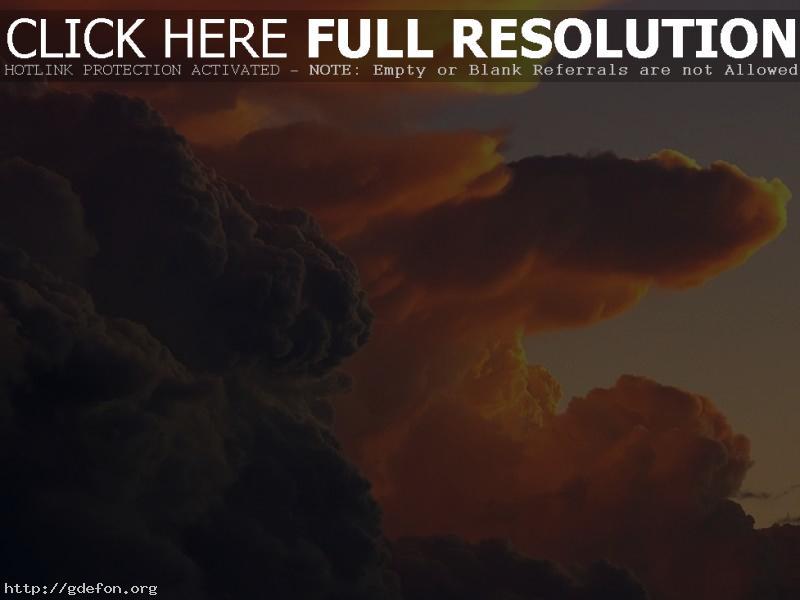 Обои Багровые облака фото картики заставки