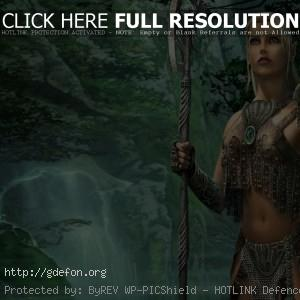 Эльфийка воительница Лана