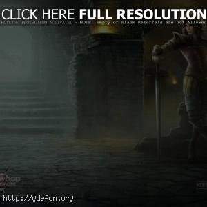 Девушка воин с мечем