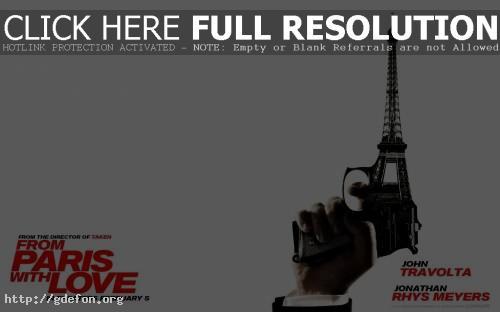 Обои Из Парижа с любовью (From Paris With Love) фото картики заставки