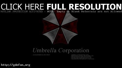 Обои Логотип корпорации Амбрелла (Umbrella corp) фото картики заставки