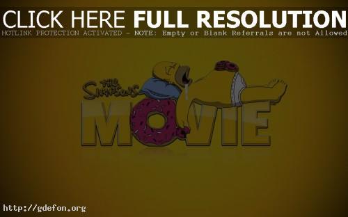 Обои Гомер с пончиком фото картики заставки