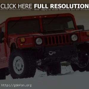Hummer H1 красный
