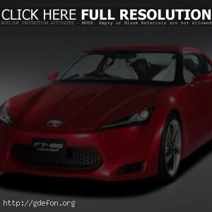 Красная Toyota FT 86 Concept