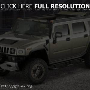 Hummer H2 серый