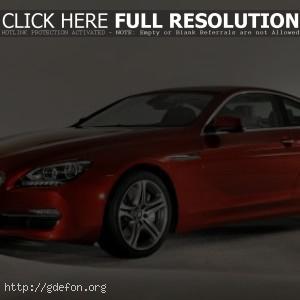 BMW 650i coupe тюнинг красный