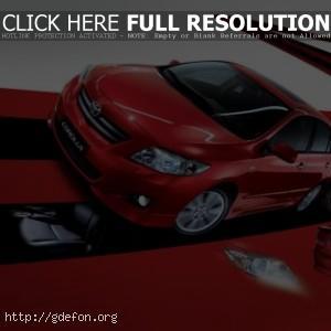 Красная Тойота