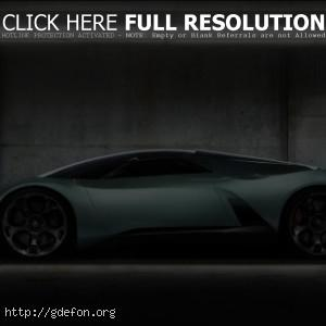 Серый Lamborghini