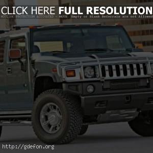 Hummer H2, вид спереди