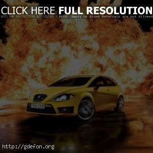 Seat Leon Cupra и взрыв
