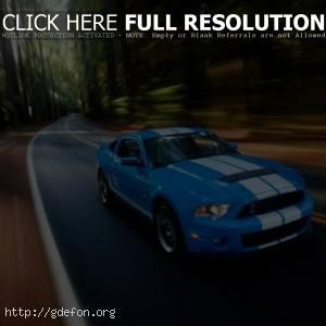 Mustang голубой