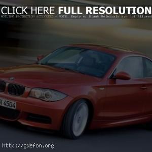 BMW 135i Coupe оранжевый