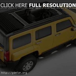 Hummer H3 жёлтый