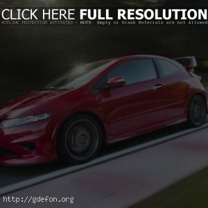 Honda Civic Type-R красная