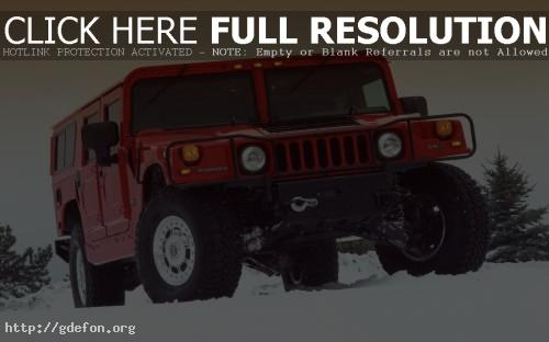 Обои Hummer H1 красный фото картики заставки