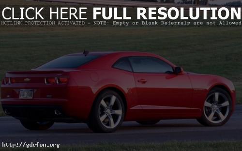 Обои Красный Chevrolet Camaro фото картики заставки