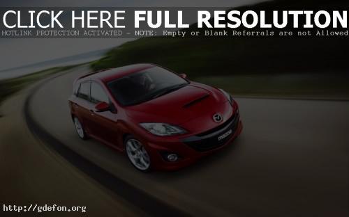 Обои красная Mazda 3 фото картики заставки