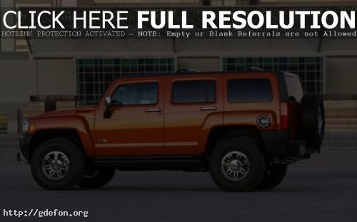 Обои Hummer H3 оранжевый фото картики заставки