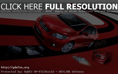Обои Красная Тойота фото картики заставки