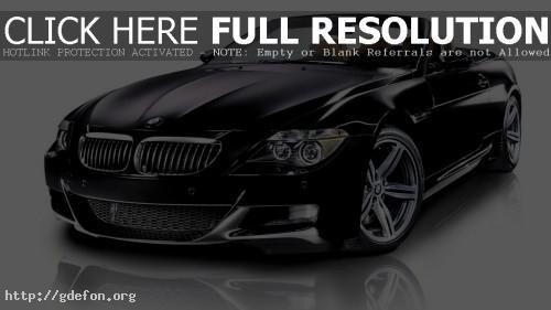 Обои BMW M6 Black фото картики заставки