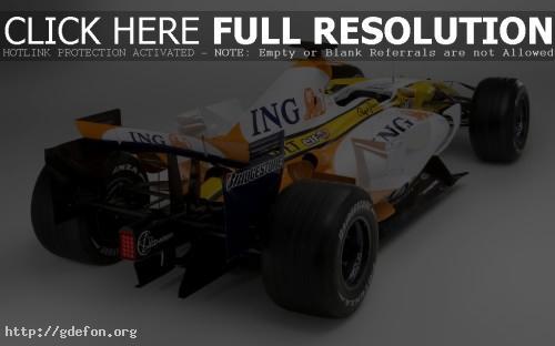 Обои Renault F1 R28, сзади фото картики заставки