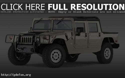 Обои Hummer H1 серый фото картики заставки