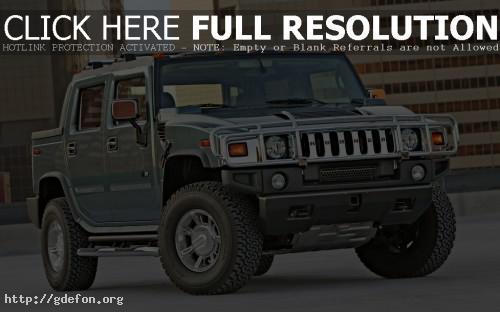 Обои Hummer H2, вид спереди фото картики заставки