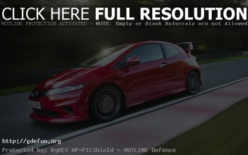 Обои Honda Civic Type-R красная фото картики заставки