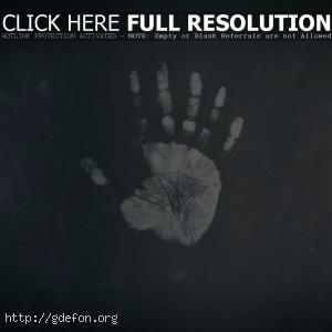 Необычный отпечаток руки