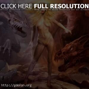 Девушка с драконами