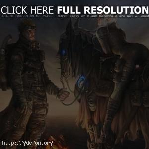 путник и эльфийка на лошади