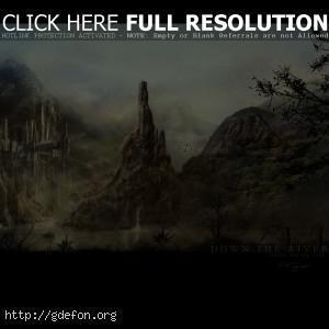 Замок на склоне горы