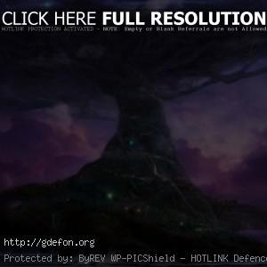 Древо прародитель под луной