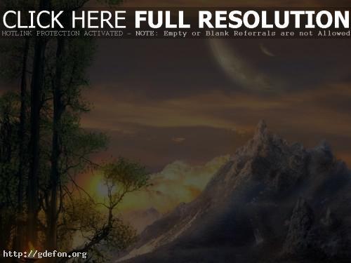Обои Долина на закате солнца фото картики заставки